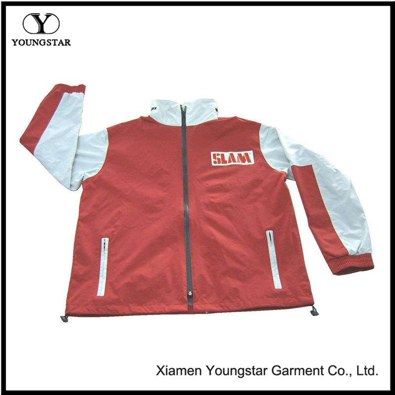 Ys-1041 Hooded Waterproof Nylon Jacket Womens Mens Raincoats