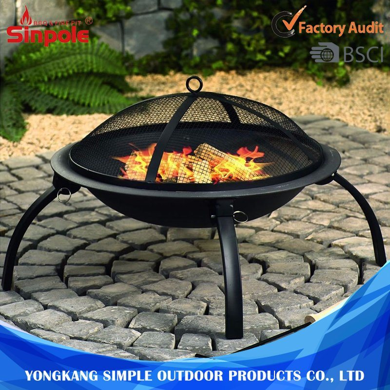Outdoor Steel Round Portable Outdoor BBQ Charcoal Fire Pit