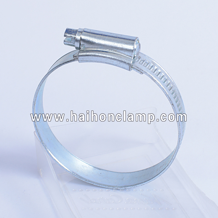British Type Hose Clamp with Riveted Housing