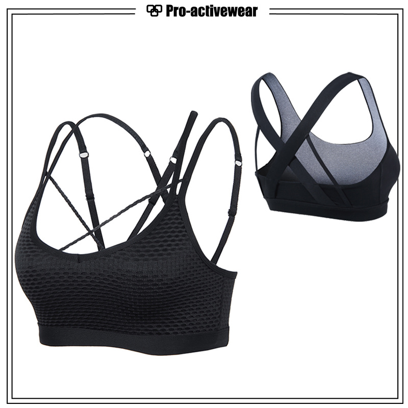 Women Yoga Top Sport Bra with Custom Color and Patterns