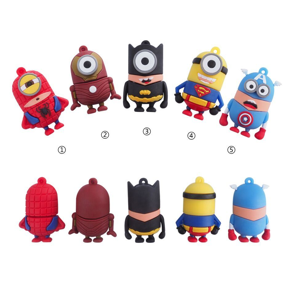 Full Capacity Super Hero Minions USB Flash Drive Memory Stick