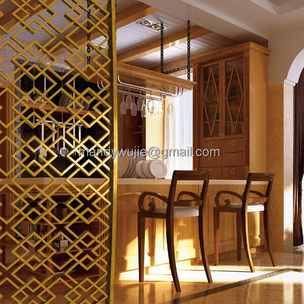 Modern Design Stainless Steel Laser Cut Decorative Room Screens