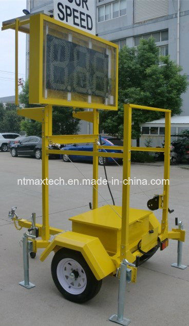 Portable Solar Powered Radar Speed Traffic Sign for Traffic Management and Road Safety