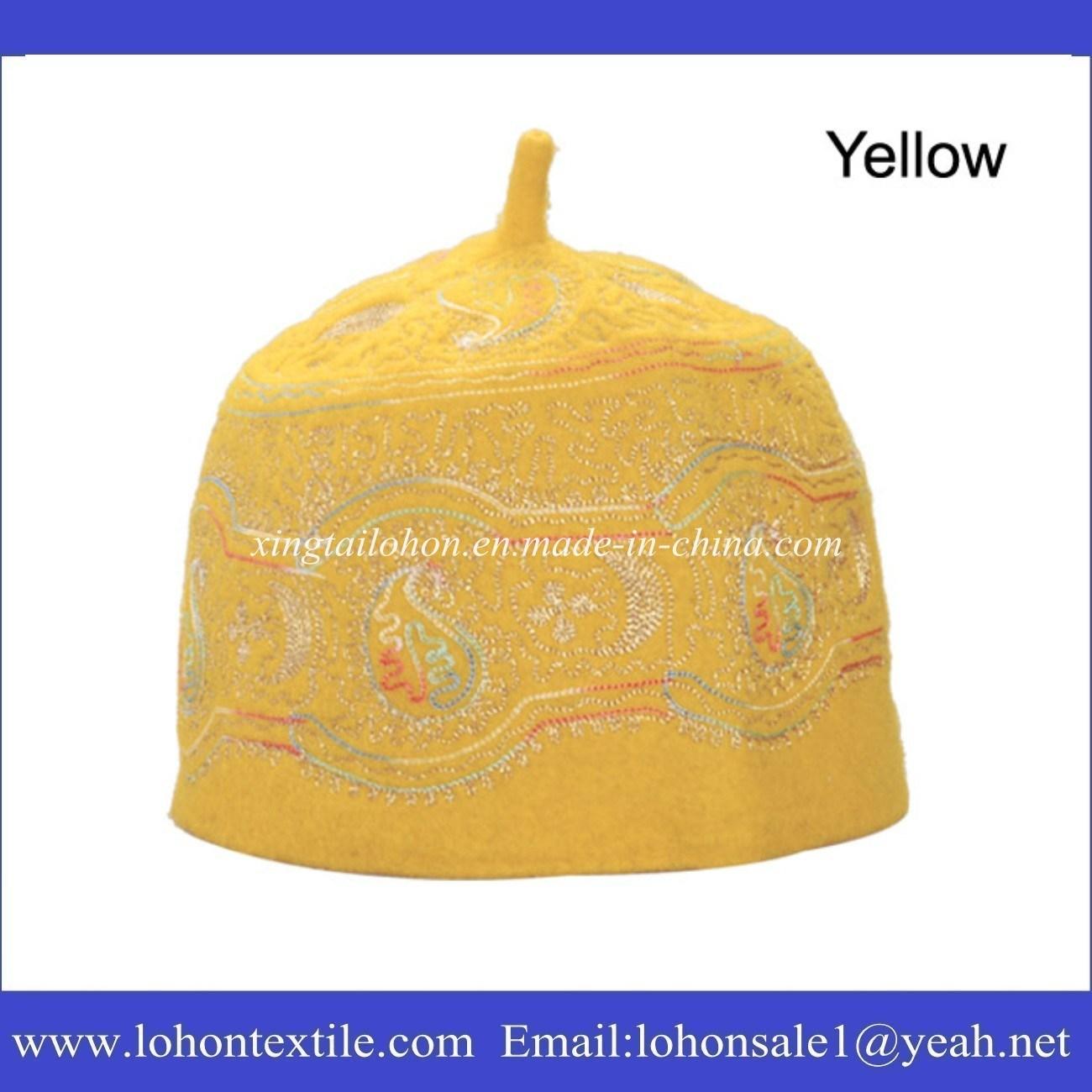 Muslim Hat Set Hijab Hat by Embrodiery Pattern Wool Felt Material