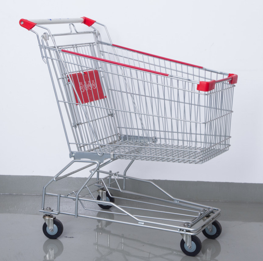 Hand Shopping Cart Supermarket Steel Trolley