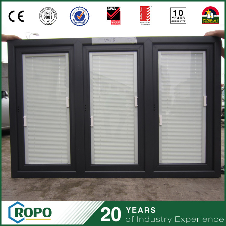 Insulation Triple Pane Windows Blinds Swing Opening From China