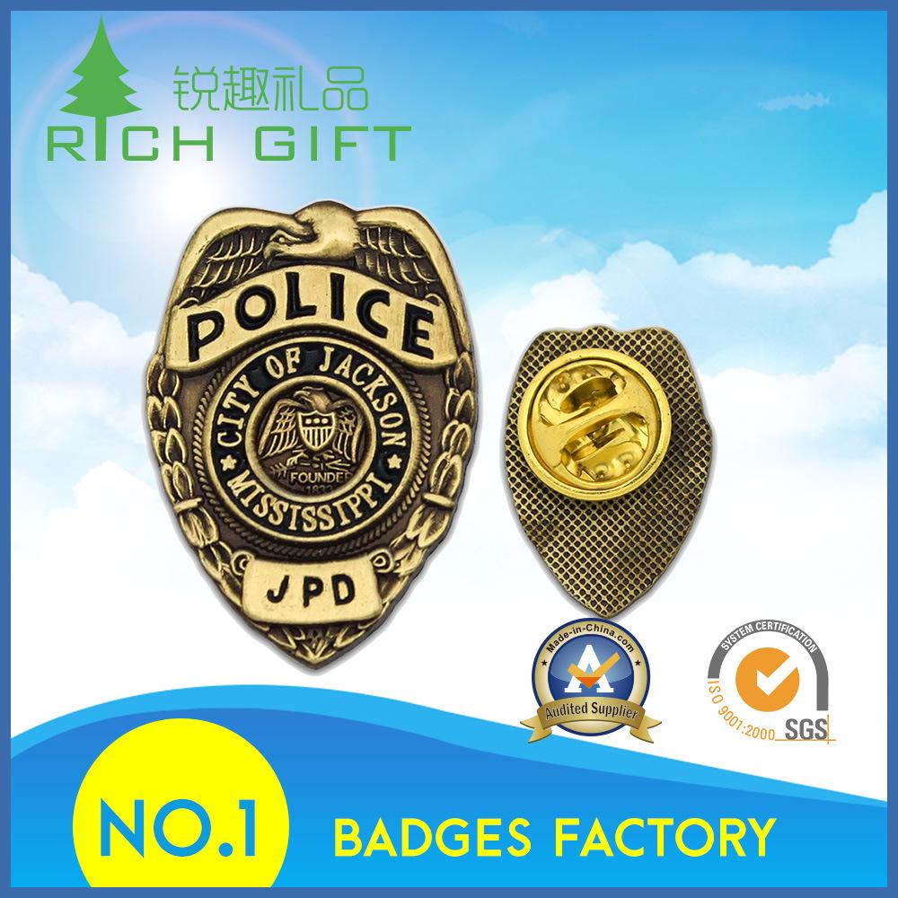 Custom Metal Enamel Emblem/Army/Military/Souvenir/Car Logo Lapel Pin/Tin/Button/Police Badge No Minimum Order