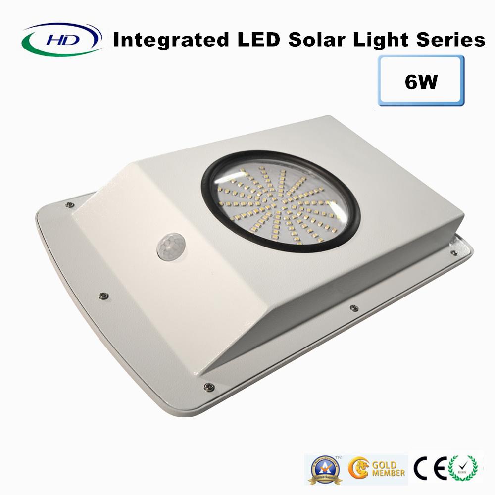 6W Integrated PIR Sensor LED Solar Garden Light