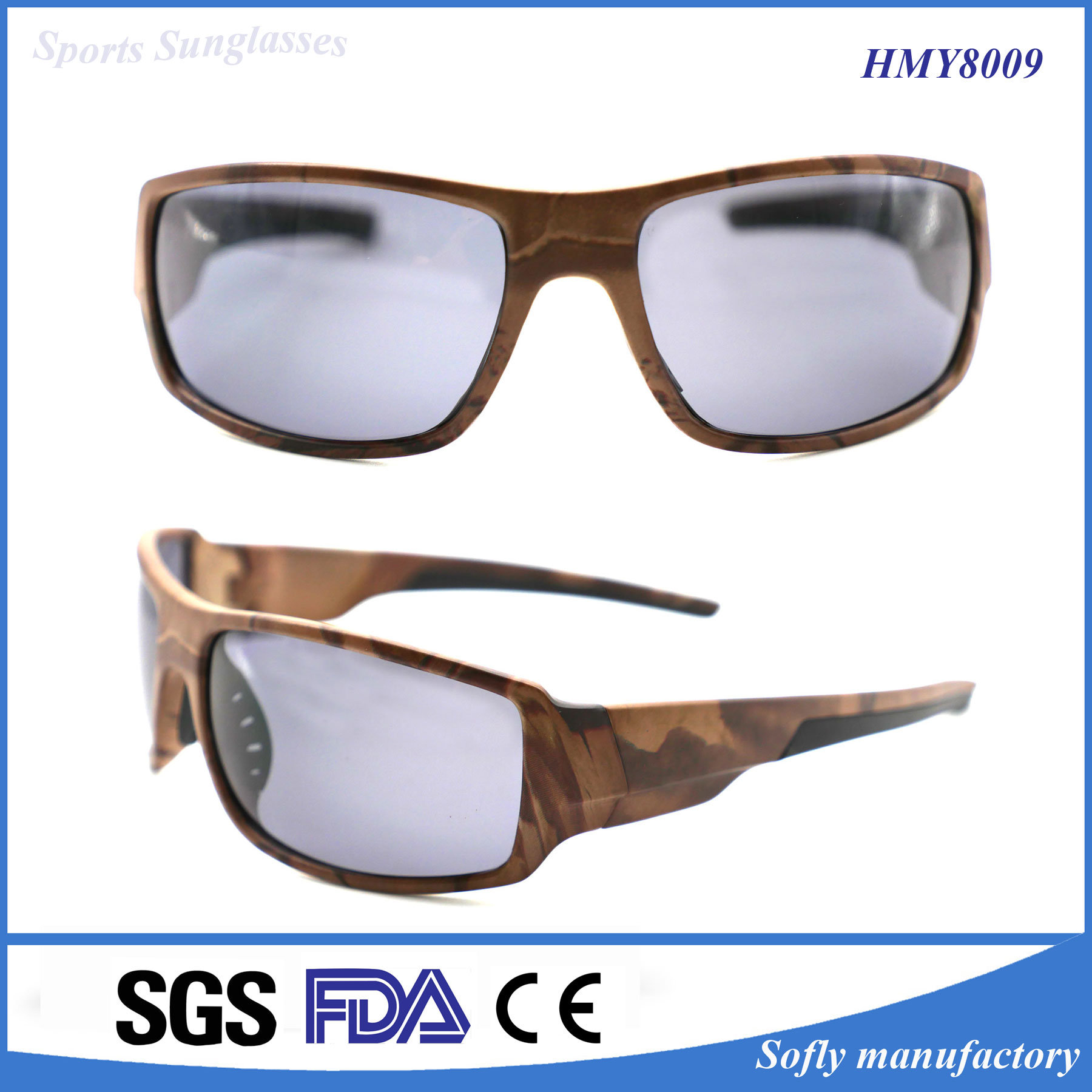 Fashion Plastic Injection Outdoor Sport Sunglasses