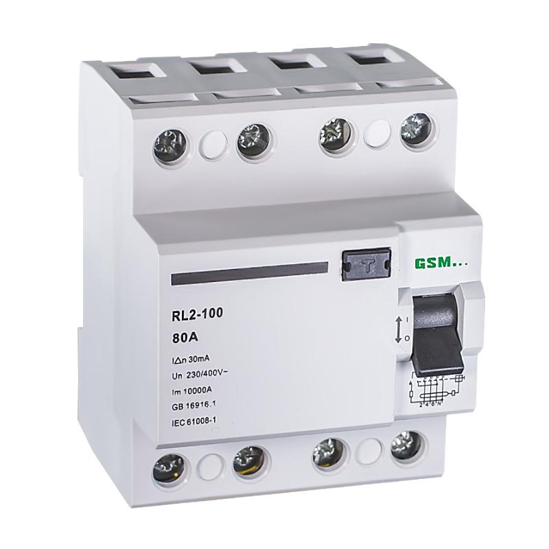 Residual Current Circuit Breakers RCCB Gsl2 -100