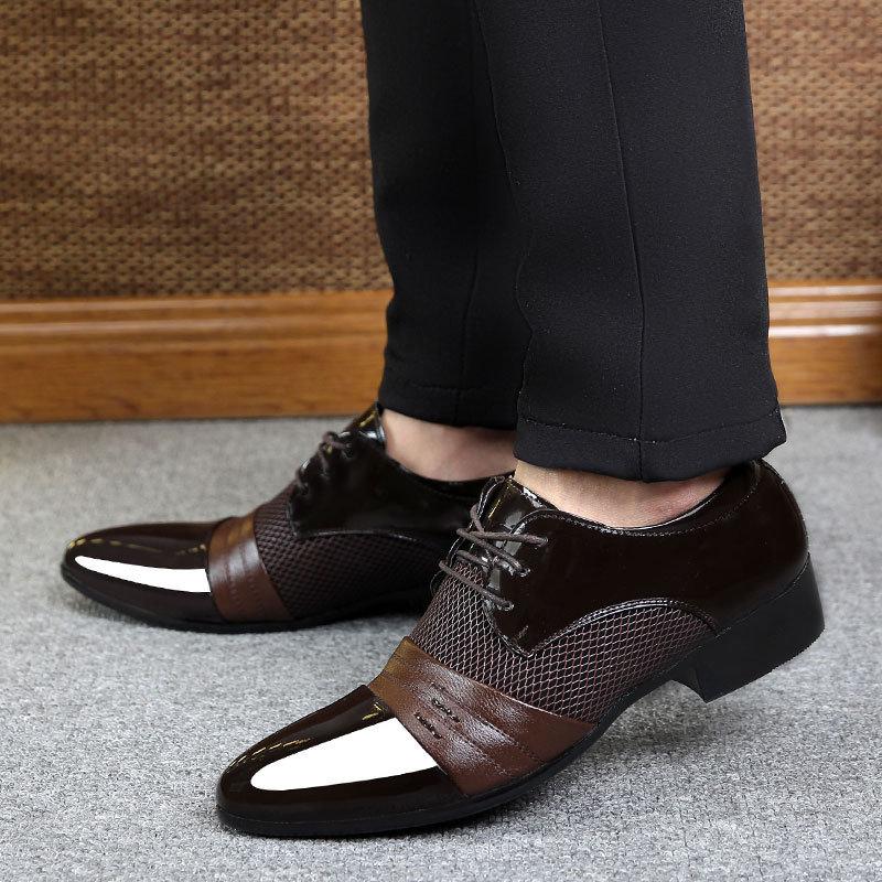 New Men′s Fashion, Business Casual Shoes, Leather Shoes, Korean Shoes, Large Tide Shoes Wholesale
