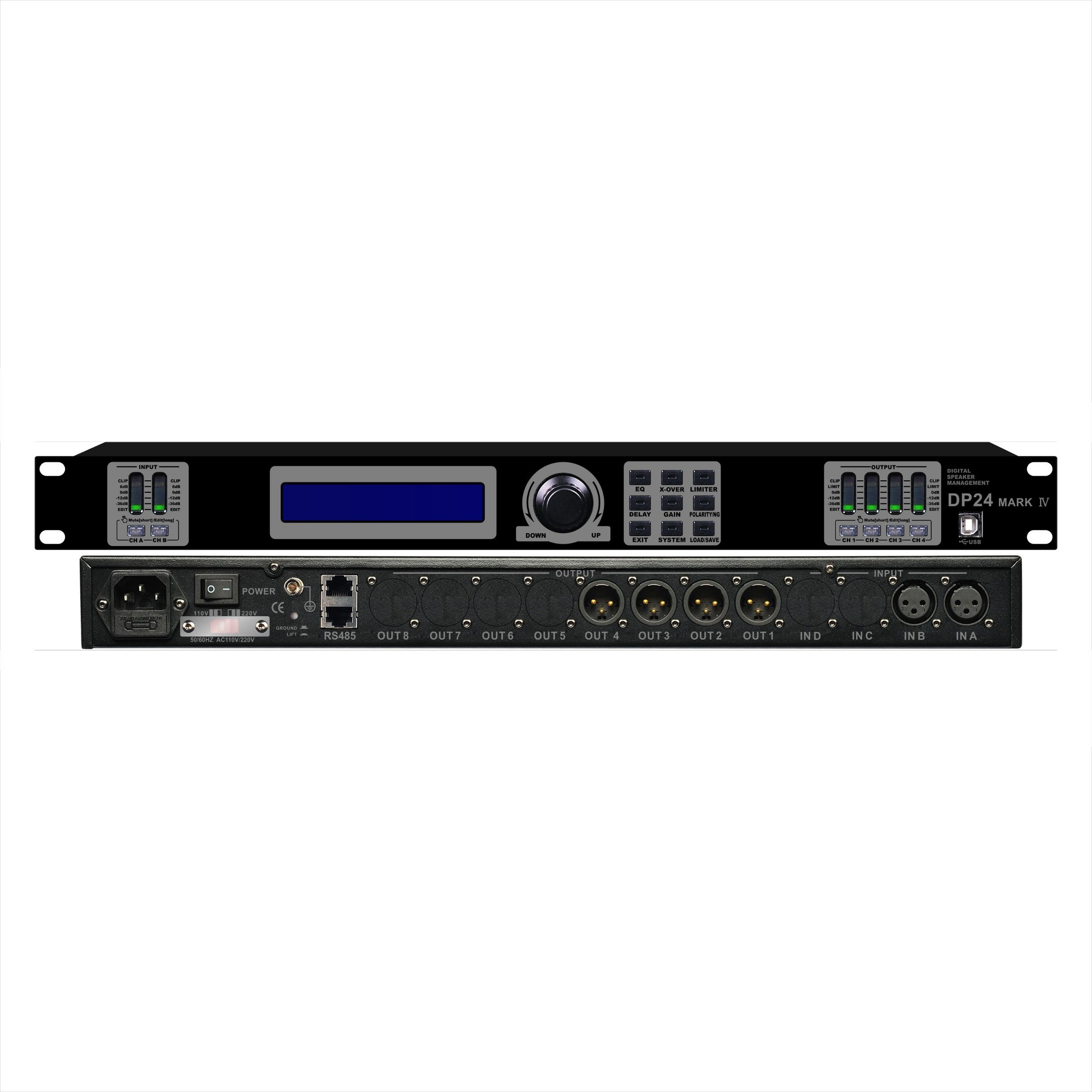Dp-24 Professional Audio Processor and Amplifier
