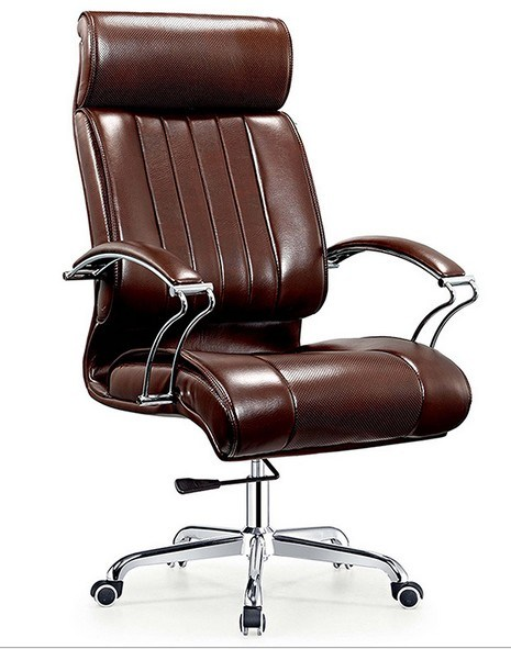 Elegant Design Aluminium Base Leather Arms Executive Office Chair (NS-6C113)