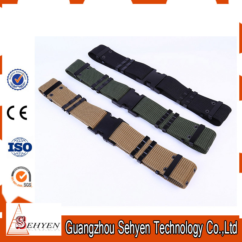 Quick Release Nylon Army Tactical Belt with Iron Buckle
