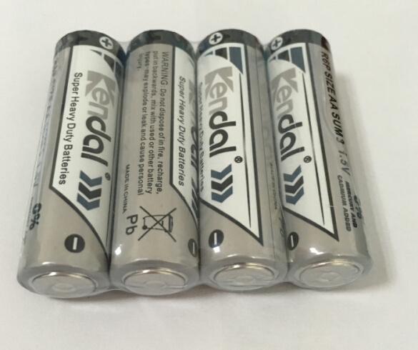 4PCS Shrink Heavy Duty Battery 1.5V R6p AA