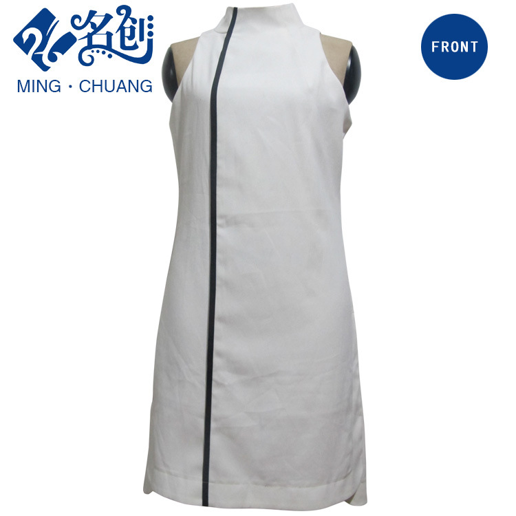 Stand Collar White Sexy Fashion Women Dress