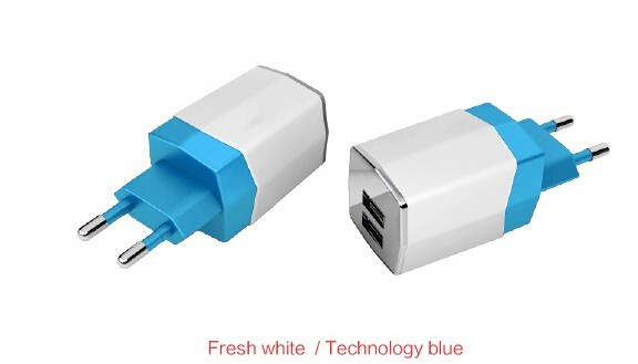 15.5W UK EU Us Plug Dual USB Travel Charger for Smart Phones
