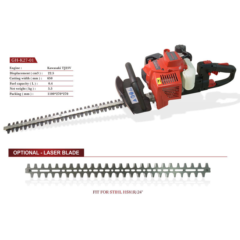 Hedge Trimmer Powered by Kawasaki Engine (TJ23V) (GH-K27-01)