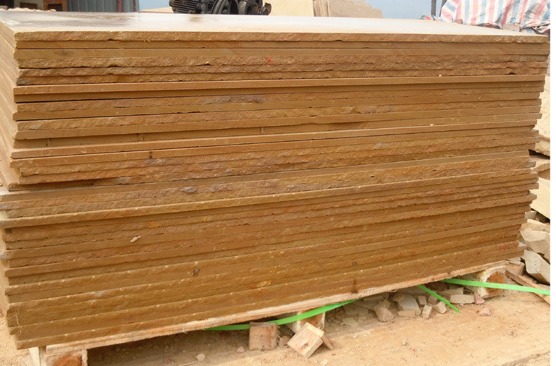 2016 Hot Sale Cantera Slab and Sandstone Tiles Yellow Wooden Sandstones