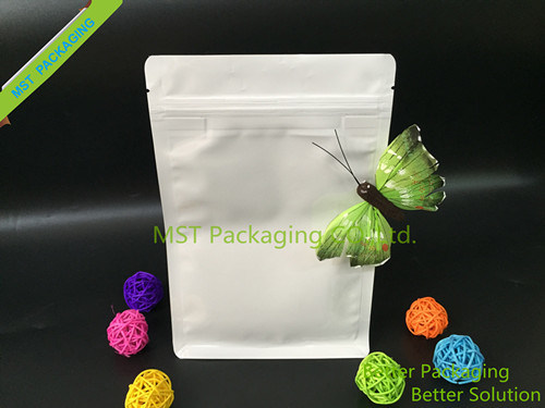 Paper Bag with Window; Flat Bottom Bag with Pocket Zipper