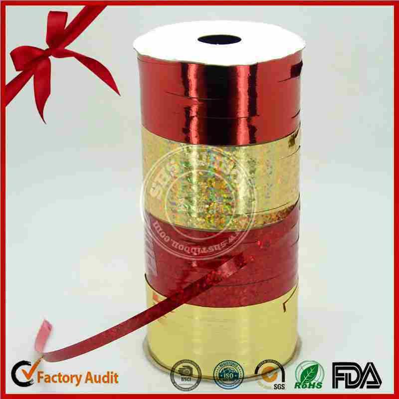 Metallic Curly Ribbon for Wedding Decoration