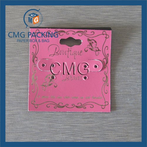 Wholesale Paper Earring Neckalce Display Card Customized