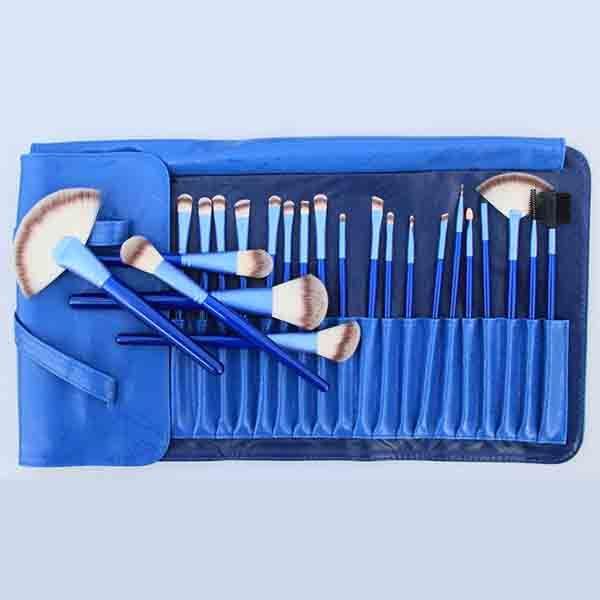 New 24 PCS Professional Goat Hair Cosmetic Makeup Brush Set