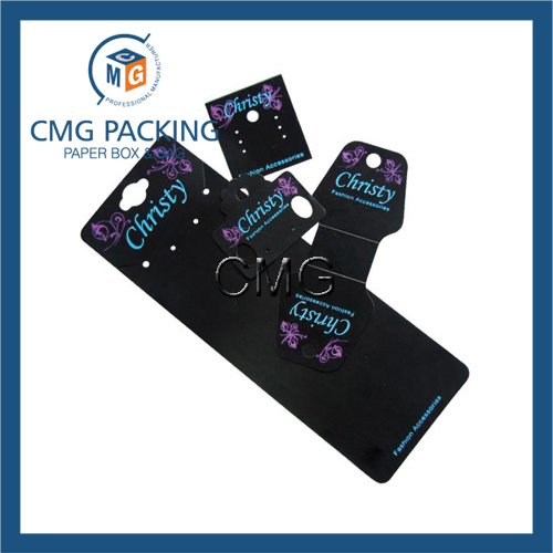 Customized Black PVC Plastic Jewelry Display Card (CMG-035)