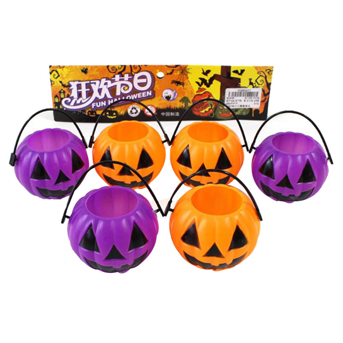 Plastic Halloween Candy Bucket Pumpkin Toy (10263277)