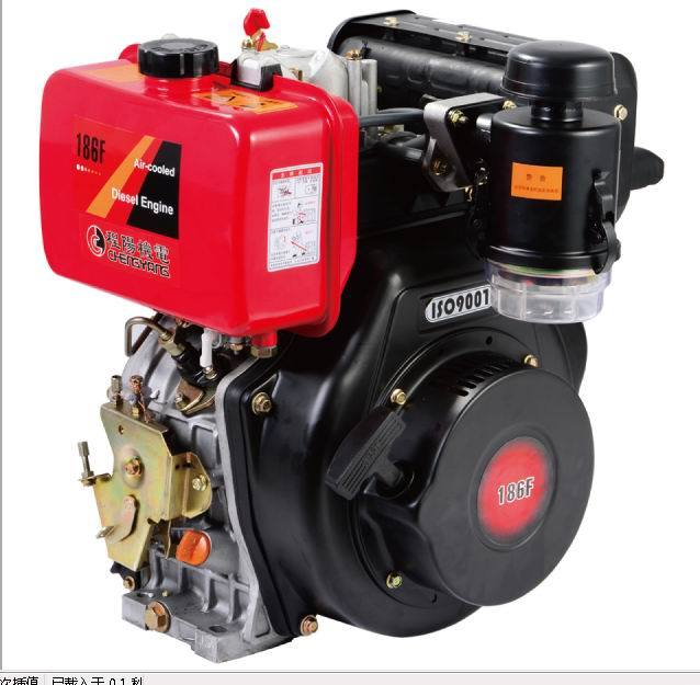 1-Cylinder 4-Stroke Aircool Vertical Type Diesel Engine (D186F) a