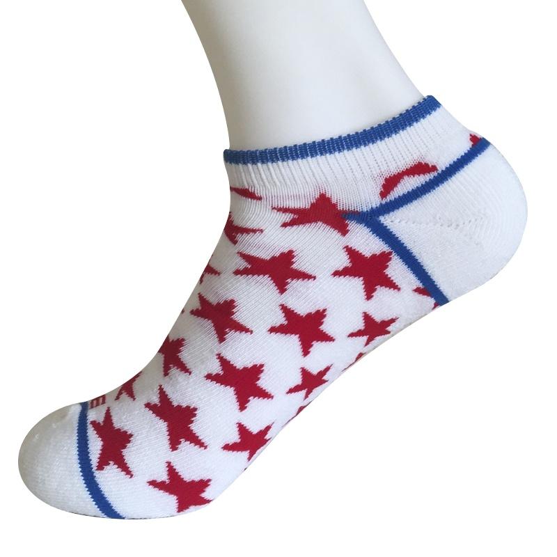 Half Cushion Poly Fashion No Show Small Stars Socks (JMPN08)