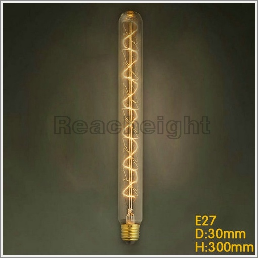 Indoor Decor Edison Filament Spiral Tubular Bulb T30