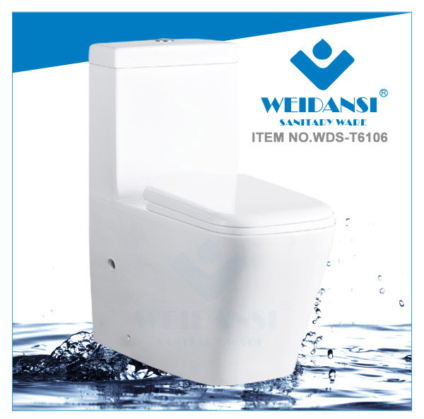 Weidansi Ceramic Wash Down S-Trap One Piece Toilet (WDS-T6106)