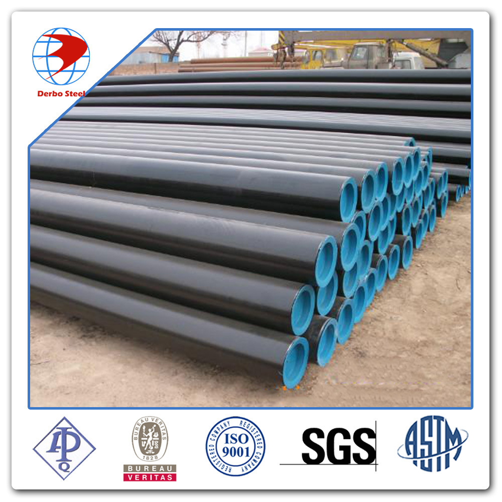 6 Inch Schedule 40 ASTM A53 A106 Grade B Black Carbon Steel Seamless Pipes
