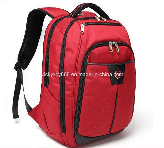 Double Shoulder Leisure School Travel Laptop Backpack Pack Bag (CY9847)