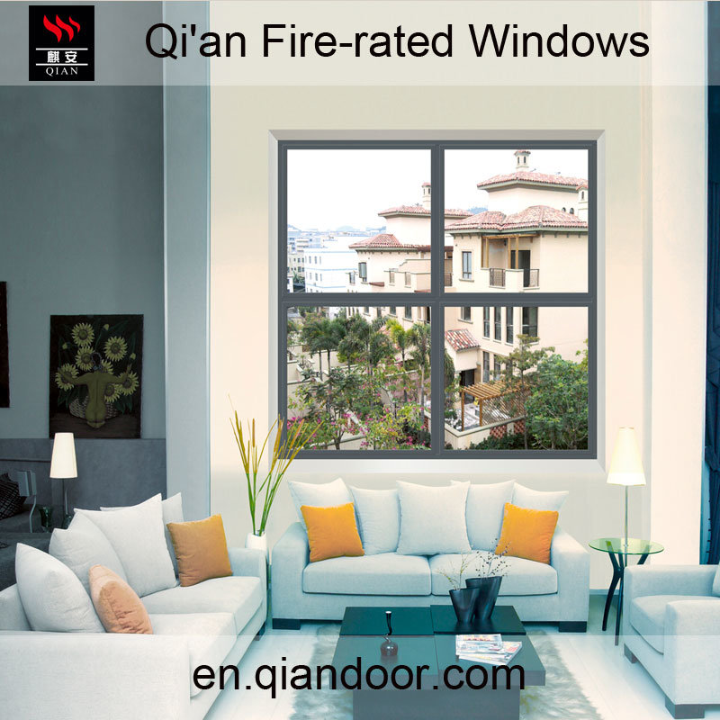 Fixed Four-Pane Steel Fire-Rated Window