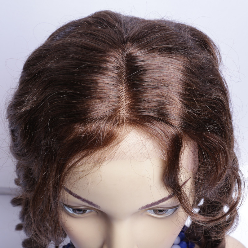 Color #4 Human Hair Wig Brazilian Loose Wave Fashion Style Lace Front Wig Human Hair for African Americans