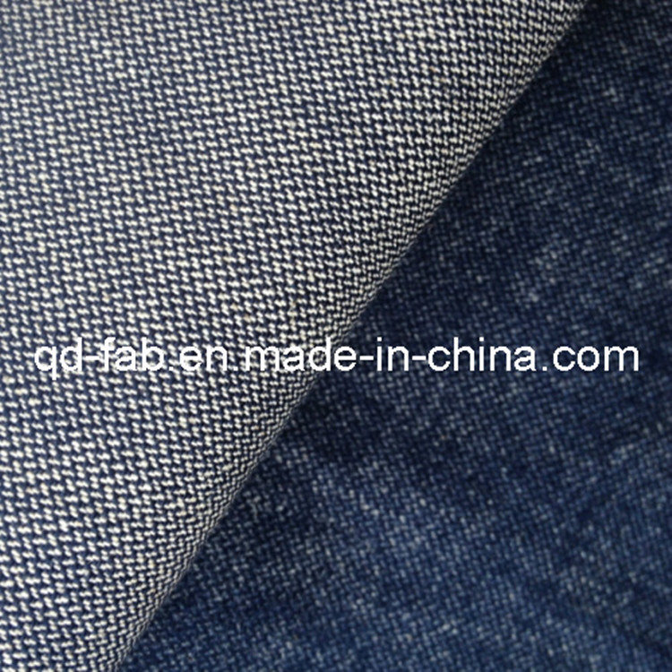 New Fashion High Stretch Cotton Linen Spandex Denim Fabric (QF13-0734)
