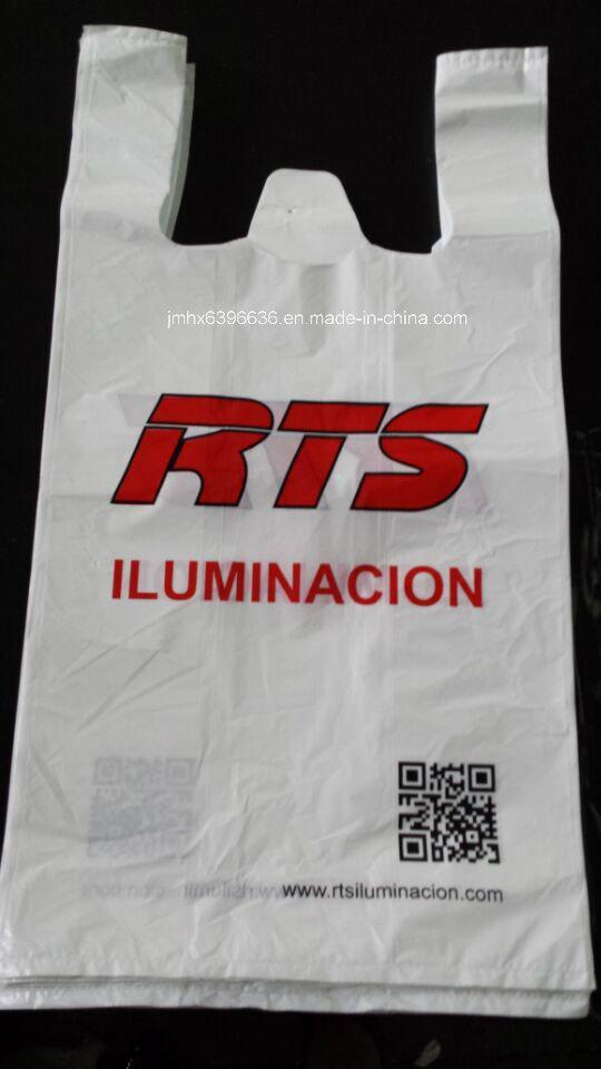 HDPE Printed Plastic T-Shirt Bag Shopping Bag