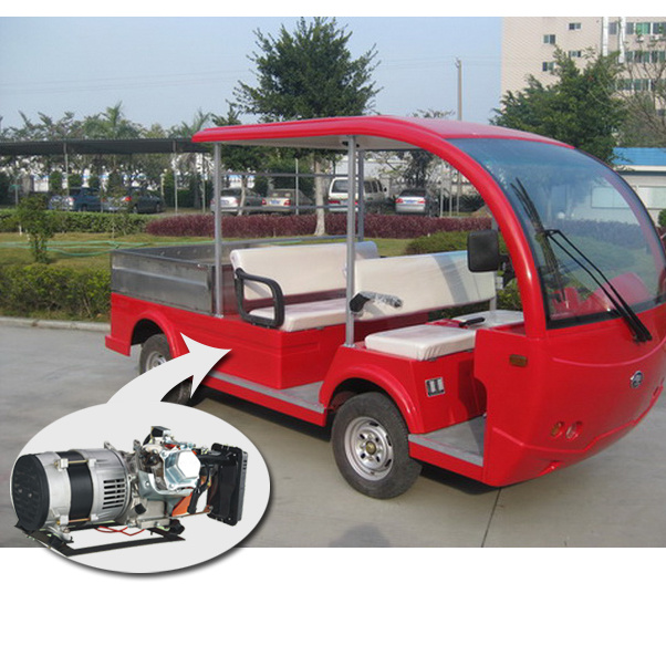 Hybrid Generator Electric Sightseeing Bus with Tablet 4seat