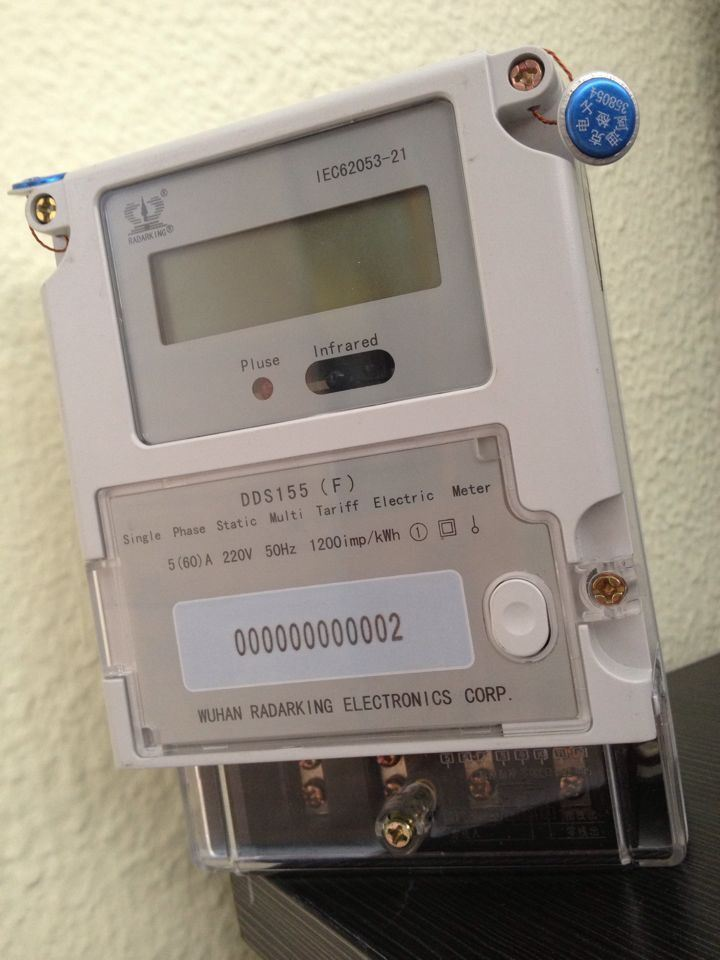 Single Phase Electric Multi Tariff Energy Meter