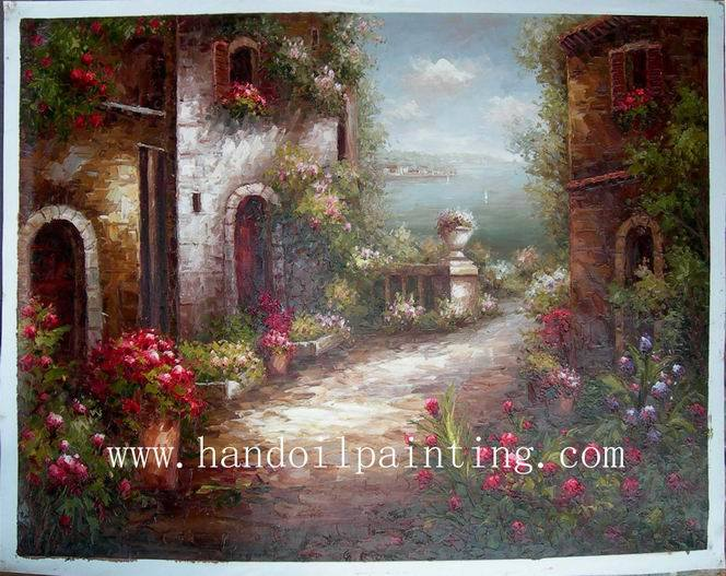 China Oil Painting Garden Scene China Oil Painting Dali