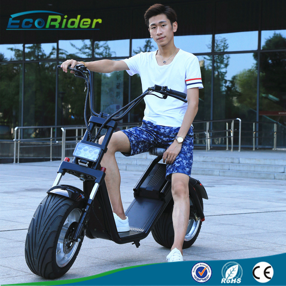 2017 Two Wheel Citycoco Fat Tire Harley Electric Scooter with Removable Battery