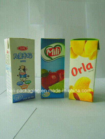 Aseptic Packing Cartons for Milk/Juice/Tea/Beverage/Drinks/Alcohol