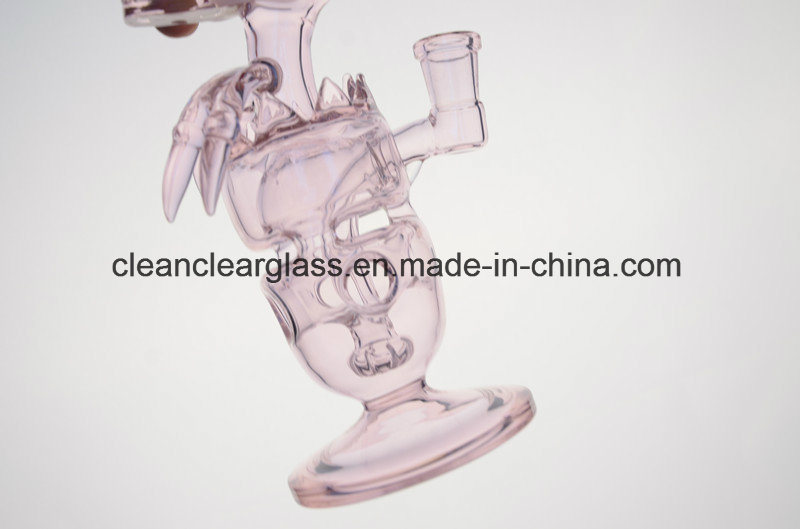 Pink Fab Dino Rig Glass Smoking Pipe Water Pipe with Showerhead Perc