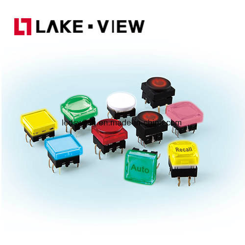 12*12 Square Illuminated Tactile Switch with Multiple LED Color Options