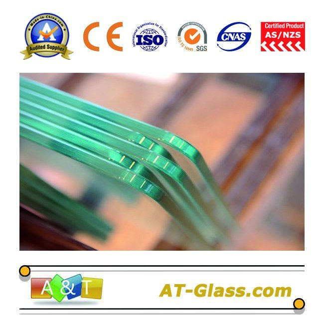 3-19mm Clear Tempered Glass/Toughened Glass with Ce Certificate Used for Building, Furniture, etc