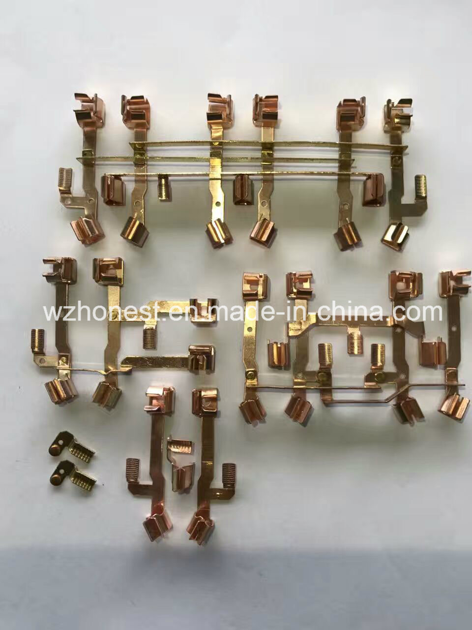 Switch Copper Accessories Red Copper Brass Metal Stamping Press Parts for Timer