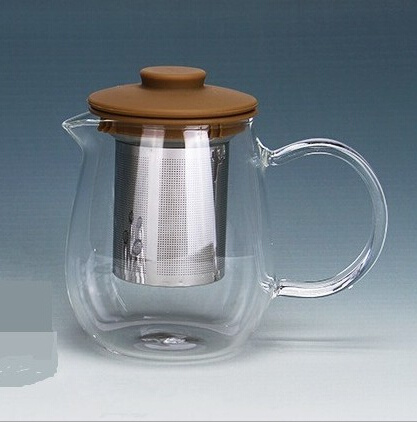 600ml Juice Pot Hand Blown Tea Pot with Filter