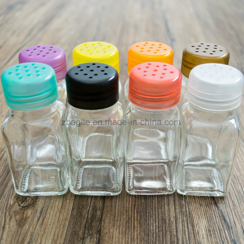 Factory Wholesale Cheap Small Transparent Glass Spice Salt Shaker (100027)